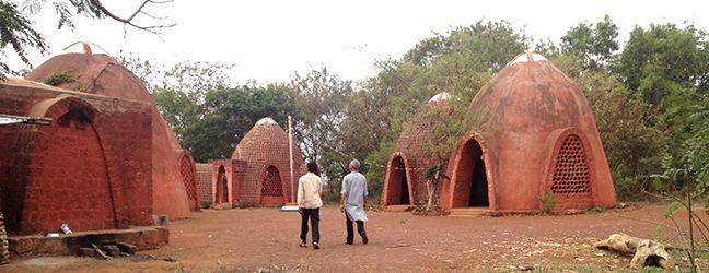Rain water harvesting earthworks at a 5 acre herbal medicine farm (eucalypts, etc.) in the rural drylands of India. #livingecology #permacultureinternship