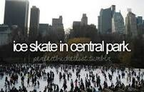 Ice skate in central park. # Bucket list # Before i die # NYC
