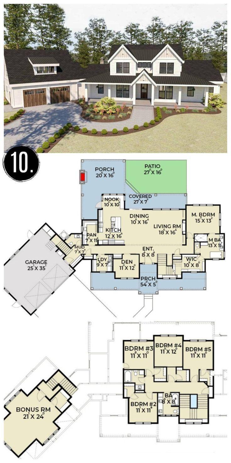 Farmhouse Flooring In 2020 House Plans Farmhouse Modern Farmhouse Floorplan Farmhouse Floor Plans