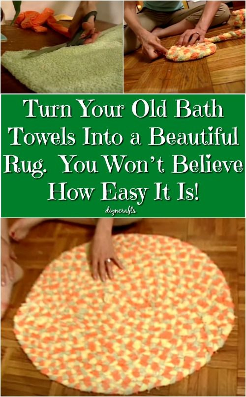 Turn Your Old Bath Towels Into a Beautiful Rug. You Won't Believe How Easy It Is! {Video}