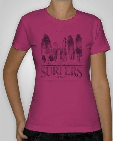 Girls surfers