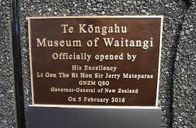 Opening ceremony Waitangi Museum