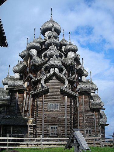 wooden church, russia