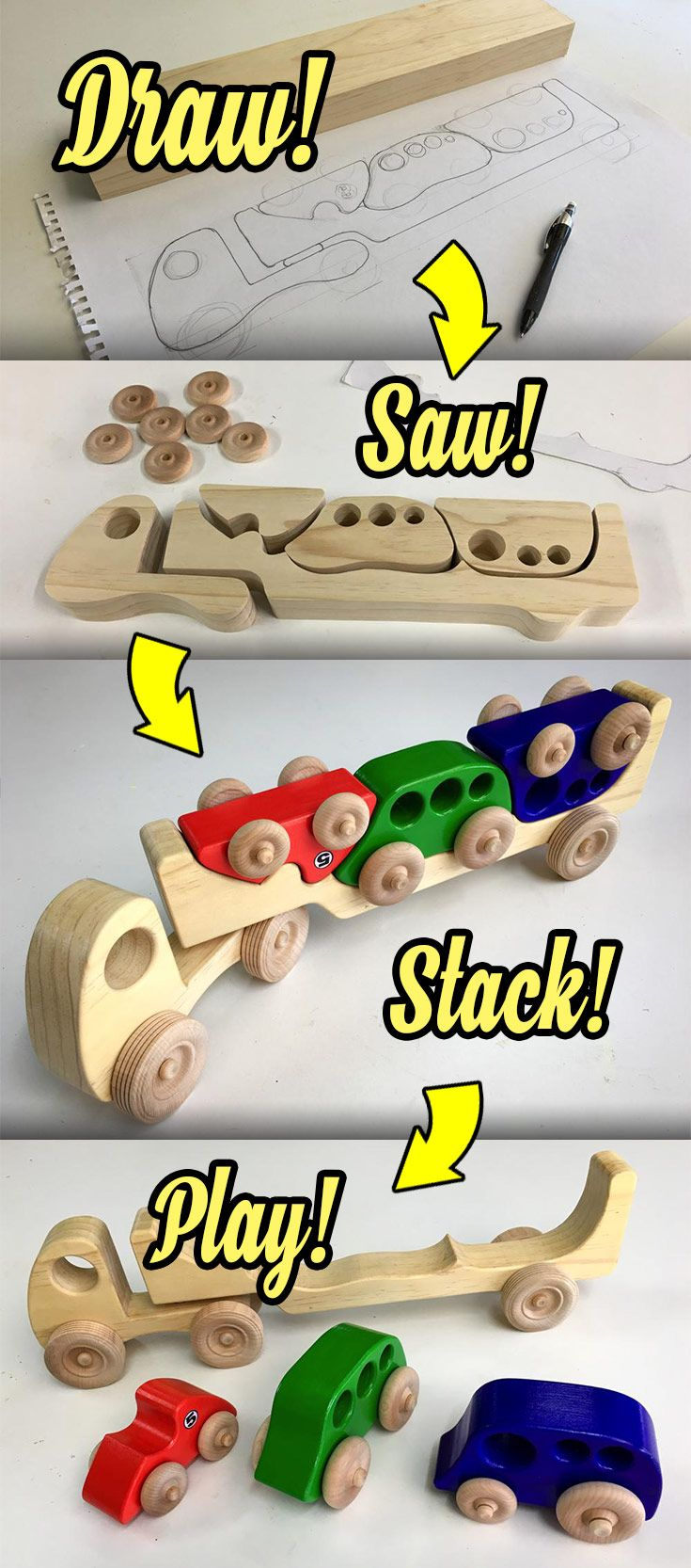 how to make wooden toys for kids