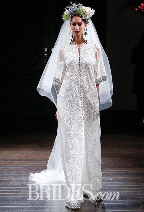 Brides: Naeem Khan Wedding Dresses - Fall 2016 - Bridal Runway Shows - Brides.com