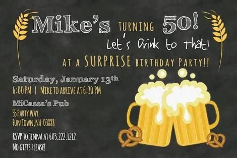 50th Party Ideas For Men