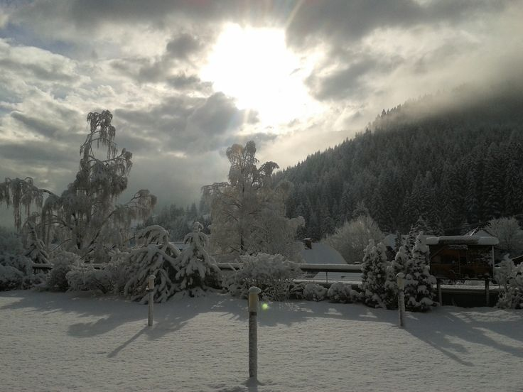 Sun and snow in the morning