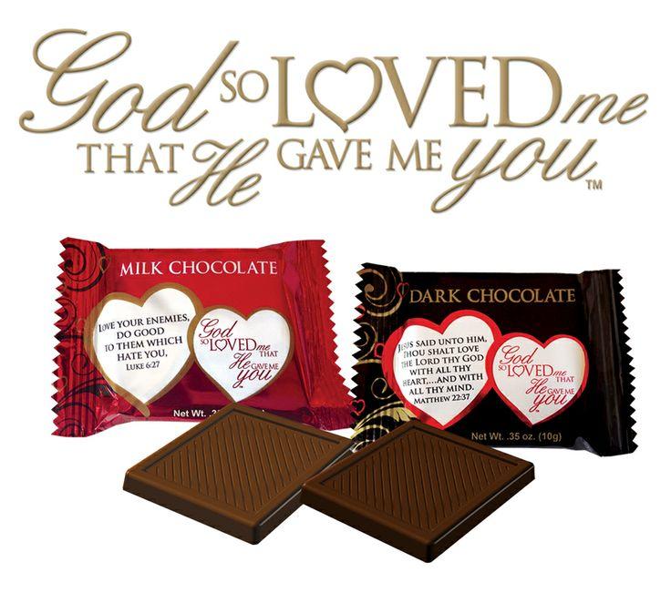 Scripture Candy Valentine's Day Milk & Dark Chocolate!