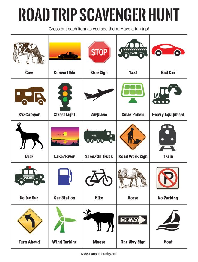 12 tips for making your Summer road trip with kids a success. Printables for a Road Trip Scavenger Hunt and License Plate Games.