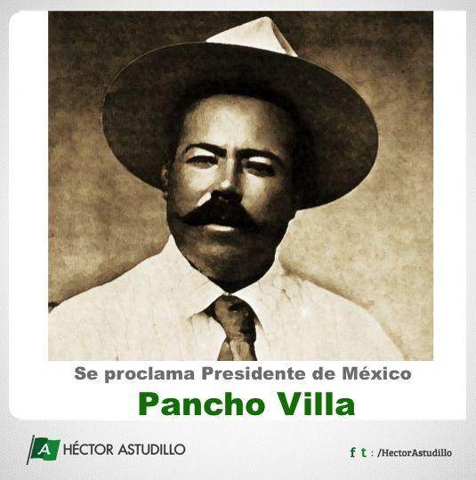 Con la aceptación de Pacho Villa del Plan de Ayala, reconoció el Centauro del Norte la causa de Zapata y se proclamó presidente de México asumiendo los poderes civiles y militares el 18 de enero de 1915.