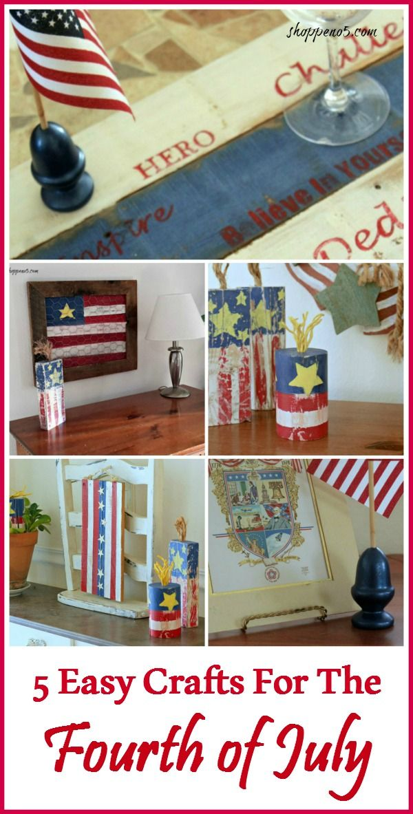 5 Easy Craft Projects For The Fourth of July - Shoppe No 5