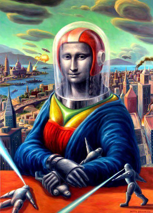 #Mona #Lisa #Futurism #artistic #artsy #space #davinci #future