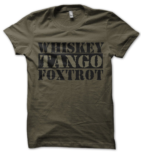 WTF Funny Shirt Whiskey Tango Foxtrot Military - T Shirt. $12.95, via Etsy.