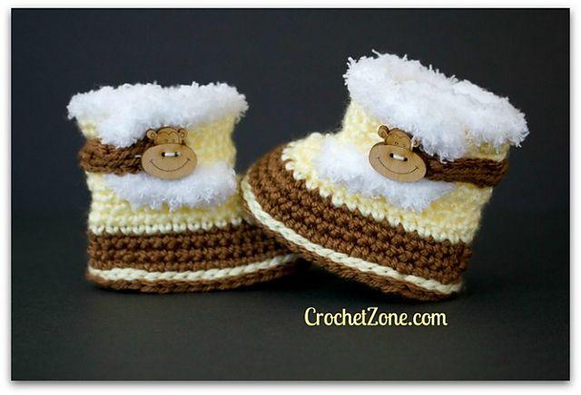 Crochet Patterns Galore - Fuzzy Booties