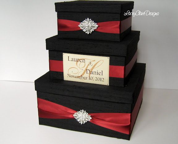 Wedding Gift Box, Card Box, Money Holder Envelope Reception Card Box - Custom Made. $112.00, via Etsy.
