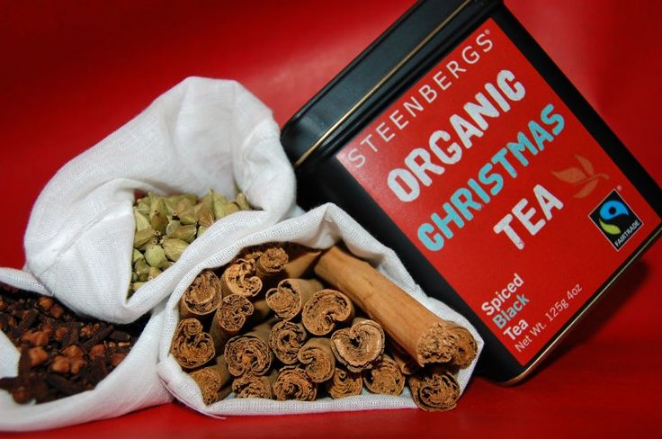 Steenbergs Christmas Tea In 125g Caddy - Organic Fairtrade - loose leaf Christmas flavours in a tin.