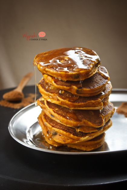 dyniowe pancakes z czekoladą