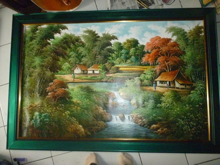 Lukisan Kanvas Desa Asri  Kode : Kk 18  Bahan : cat air dan kanvas  Frame : Fiber  Ukuran : 100 x 70 cm  Harga : Rp. 550.000,-  Call / SMS / WA :  085 740 740 569  BBM :  7A30FC92  * BAGI KONSUMEN YANG BERADA DI DEMAK DAN SEKITARNYA KAMI MENERIMA PESAN ANTAR KE ALAMAT ANDA.  * UNTUK KONSUMEN YANG BERADA DI LUAR KOTA ATAU LUAR PULAU PEMESANAN VIA PAKET (ONLINE)