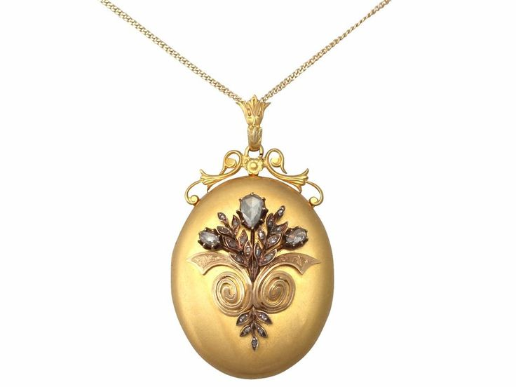 737 best antique vintage locket and art i love images on pinterest antique french circa 1880 082ct diamond and 18k yellow gold locket locket aloadofball Gallery
