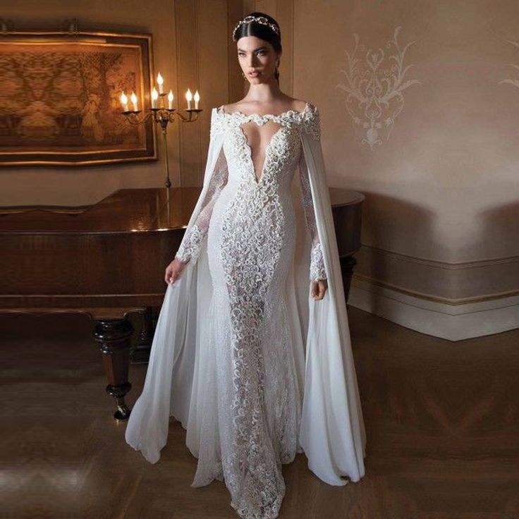 Cheap gown dresses cheap, Buy Quality dress hanger directly from China gown corset Suppliers:           Amelia Sposa 2016 Mermaid Wedding Dresses Vintage Bateau Neck Lace Appliqued Sheer Back Tulle Court Train Chur