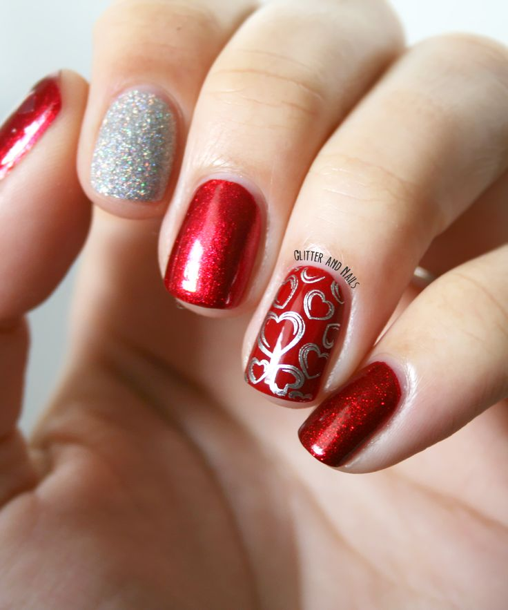 Best 25 valentine nail designs ideas on pinterest for Decoracion unas shellac
