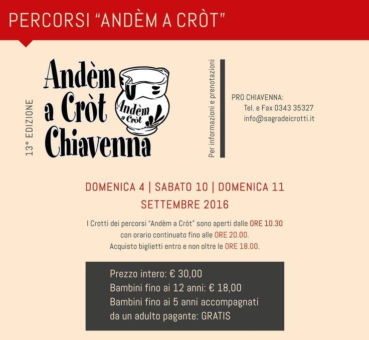 la sagra dei crotti 4-9-10-11 settembre Chiavenna (SO) 2016