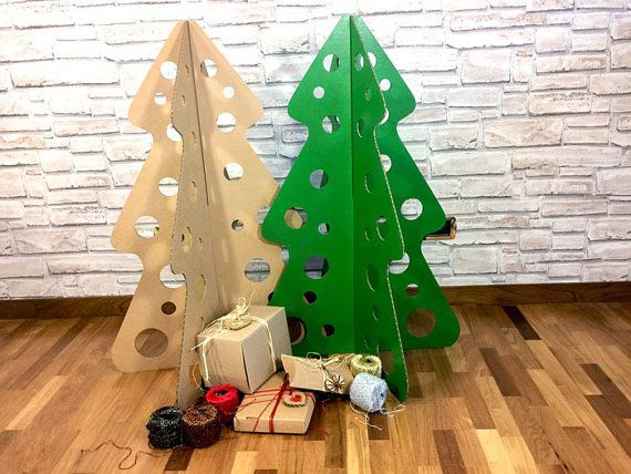 Modern Christmas tree cardboard tree by bottegadicartone on Etsy