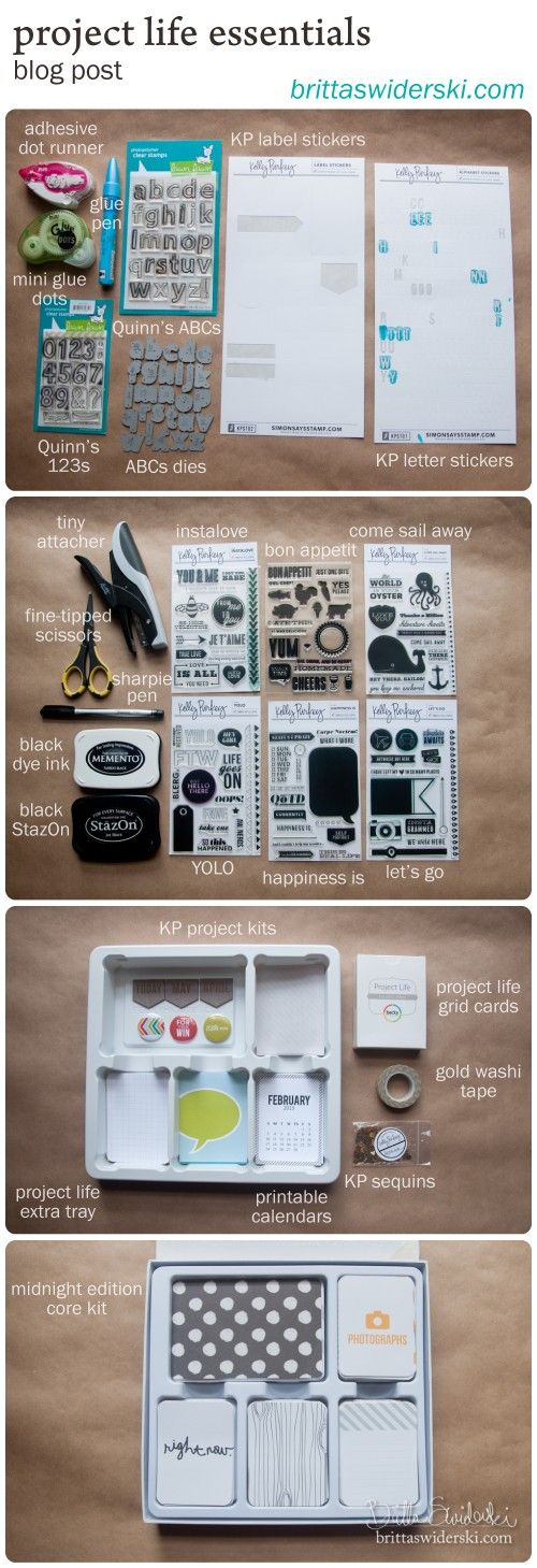 Project Life Essentials - my absolute favorites {by Britta Swiderski}