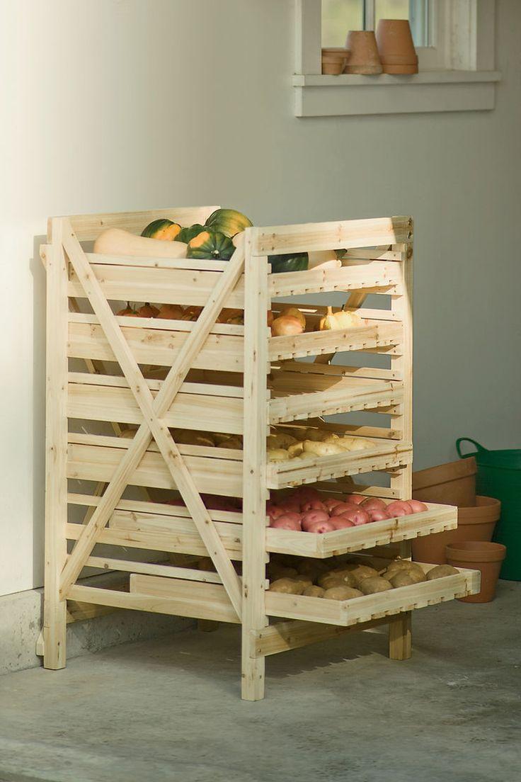 Orchard Rack - Vegetable Storage - Wood Storage Rack