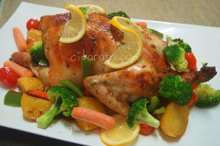 Ayam Panggang Rosemary / Rosemary Grilled Chicken   Resipi Citarasawan