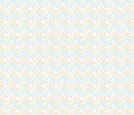 Watercolor_Flowers_Chevron fabric by mia_valdez on Spoonflower - custom fabric