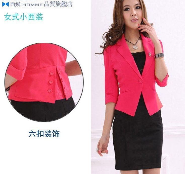 New Womens Suits Women Clothing Single Button Notched Collar Jacket