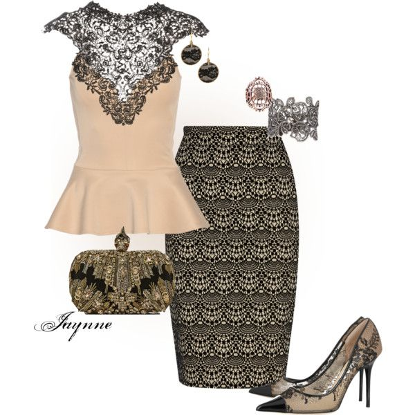 """'Peplum and Pencil'"" by ladyjaynne on Polyvore"
