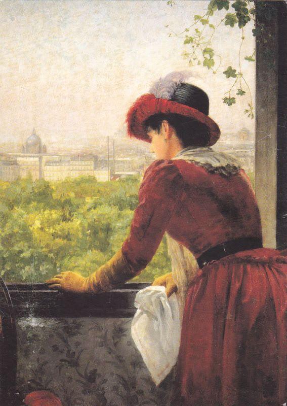 Kuva albumissa ARVID LILJELUND - Google Kuvat.  Lähtö Pariisista, 1884.  Kuopion taidemuseo.