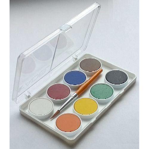 Kis gombos vízfesték készlet 8 darabos, ecsettel - Adel 911 - Akvarell festék - 269 - Vízfesték - Vízfesték készlet - Akvarell festék