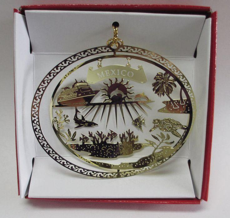 Mexico Cruise Brass Christmas Ornament Souvenir Gift ...