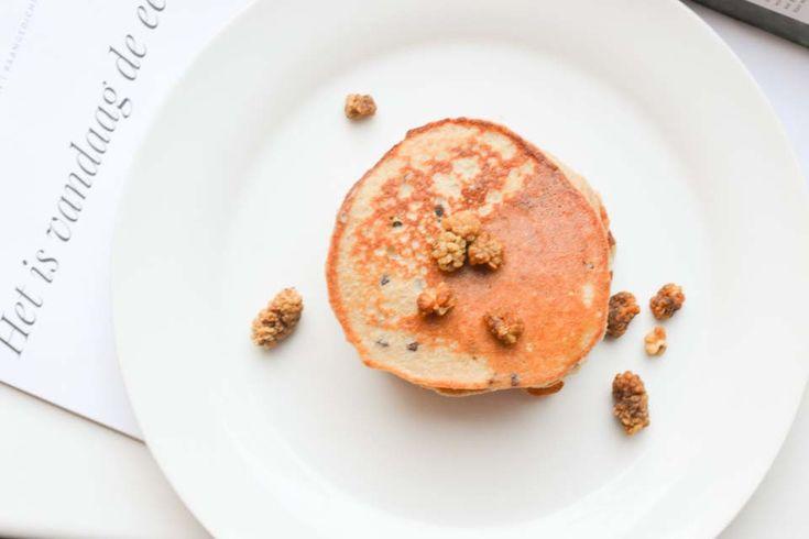 Chocolate Chip Pannenkoekjes van Amandelmeel