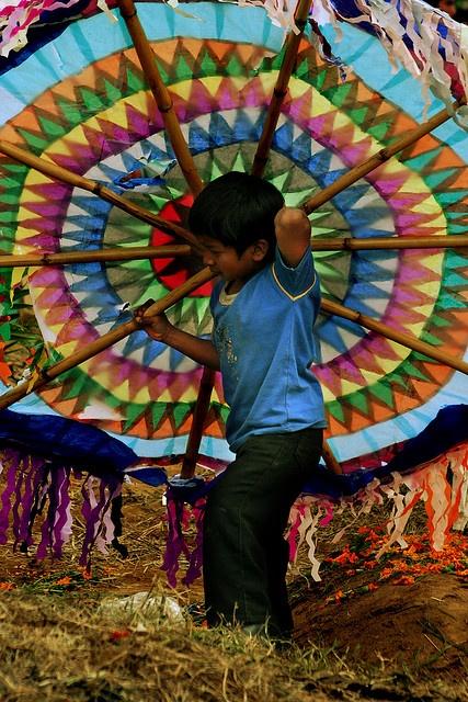 Dia de los Muertos, giant kites,  Guatemala