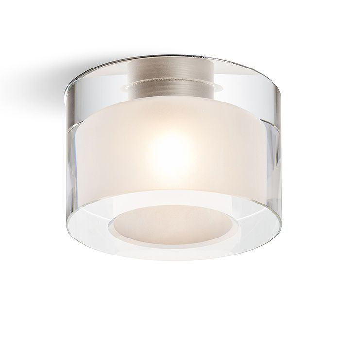 ANNA | rendl light studio | Recessed light with a shade of solid clear glass which is satinated on the inside. #interior #lighting #recessed #glass