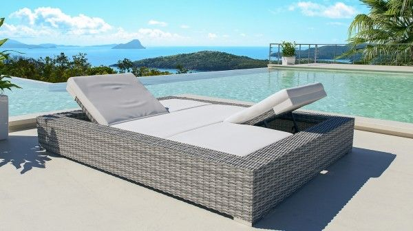 Dune Sonneninsel Polyrattan Gartenmobel Design Sonnenliege