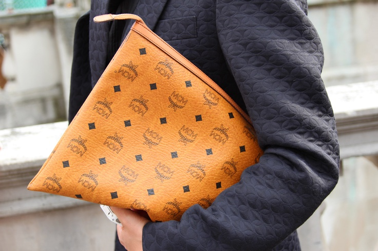 MCM oversized clutch <3  #streetstyle    wish i would have saved mine