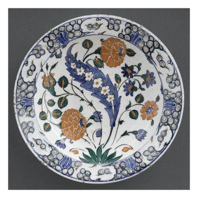 Plat à la grande feuille sâz fleurie- Musée national de la Renaissance (Ecouen)