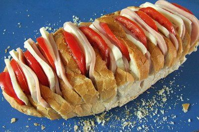 Paine umpluta cu sunca la gratar | Retete culinare cu Laura Sava