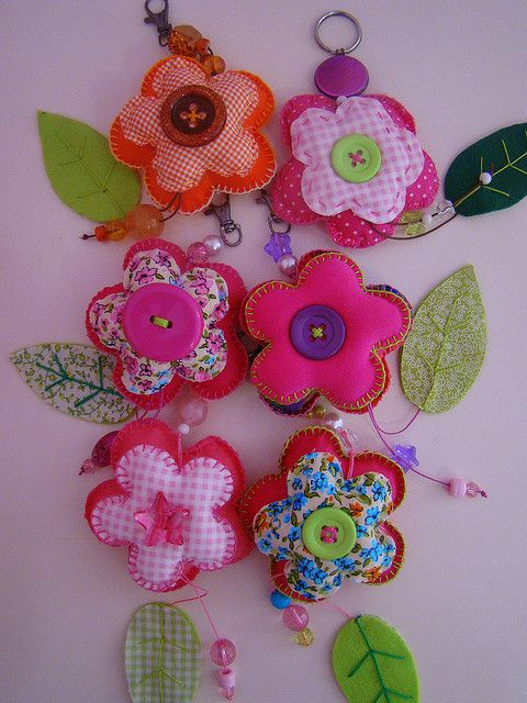 flower keyrings