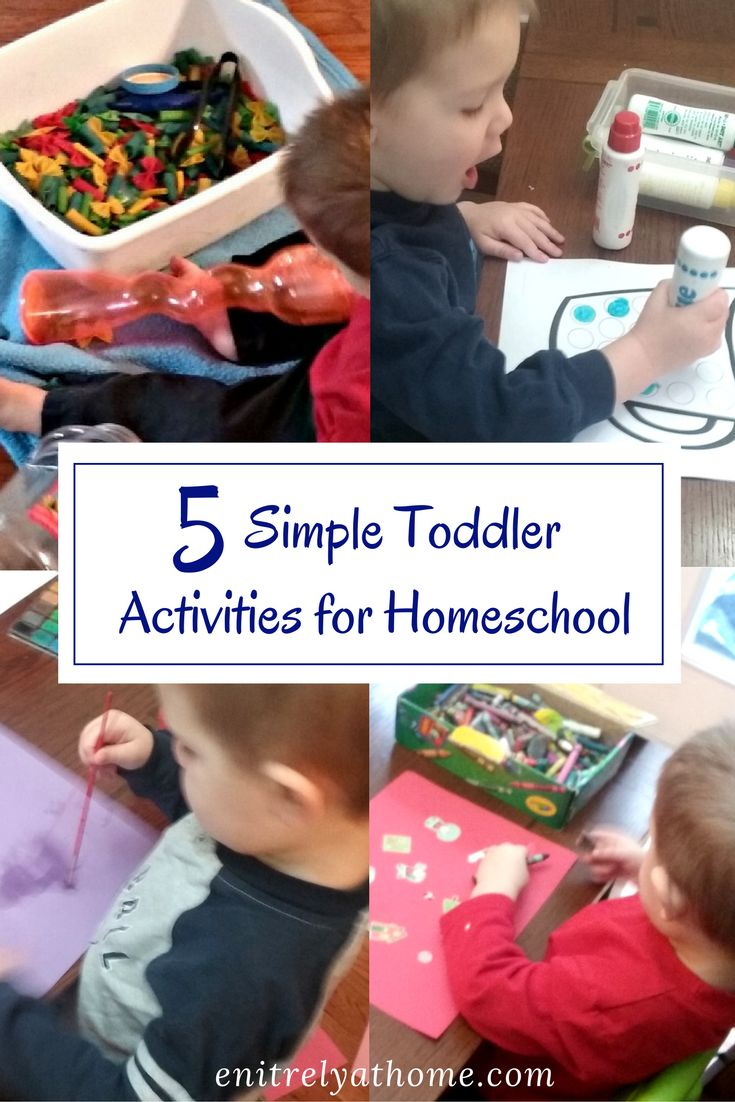 Homeschooling with toddlers can be hard! Here are 5 simple, clean activities that you can do with your toddler during your homeschool day!