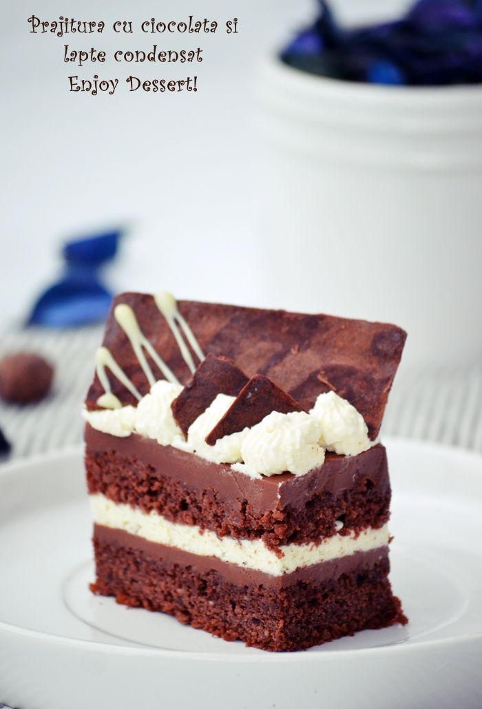 Prajitura cu ciocolata si lapte condensat_