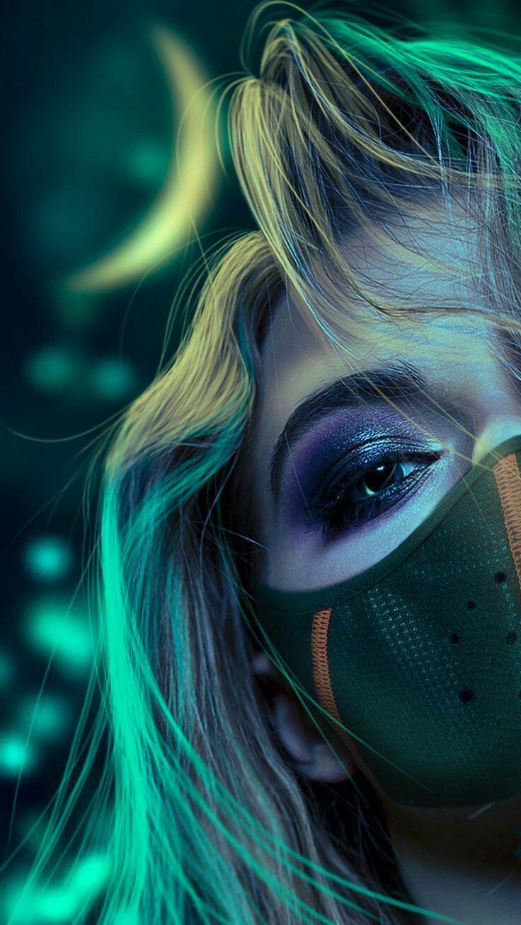 Face Mask Girls Aesthetic Photography Wallpapers For Smart Phones Home Lock Screen Deep Dark Wallpapers 1080 Digital Art Girl Cartoon Girl Images Mask Girl