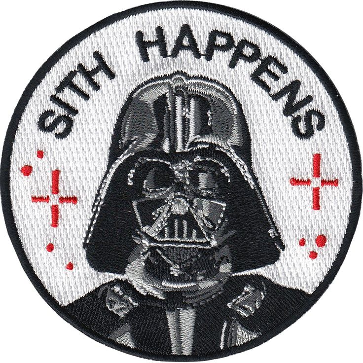 Darth Vader insipired 9 cm embroidered patch with merrowed edge and iron-on backing. Made in Spain. Follow the iron on patch instructions below...