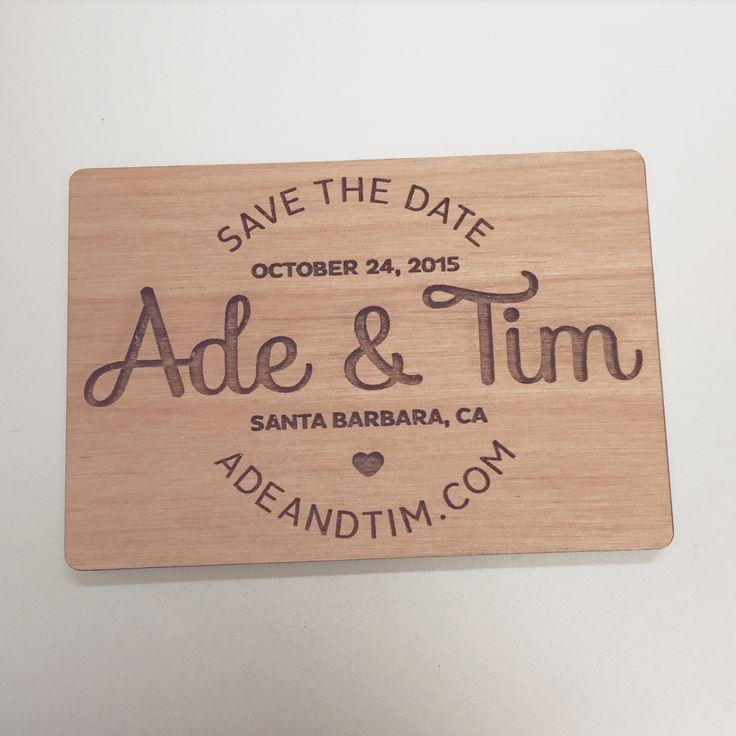cute simple save the date magnet wedding savethedate wood invitations weddingideas - Magnet Wedding Invitations