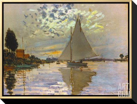 monet sailboat sailboat stretchedsailboat framedsailboat gicleeframed canvas printsstretched